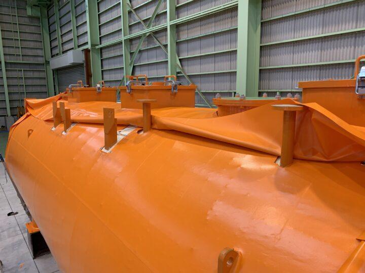 千葉県 タンク養生シートカバー取付工事