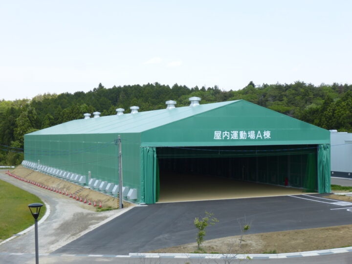 宮城県 航空自衛隊松島基地 仮設格納庫 新設工事