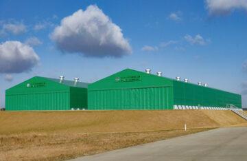 航空自衛隊松島基地 仮設格納庫の設営事例